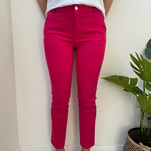 Hot Pink Slim Fit Chinos