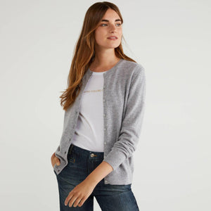 Light Grey 100% Virgin Wool Cardigan