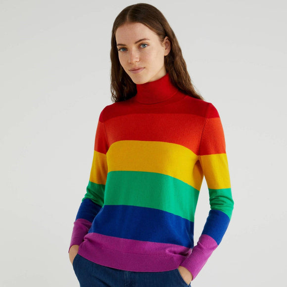 Multi-colour Turtleneck in Cashmere Blend