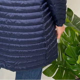 Navy Soft Warm Down Padded Coat
