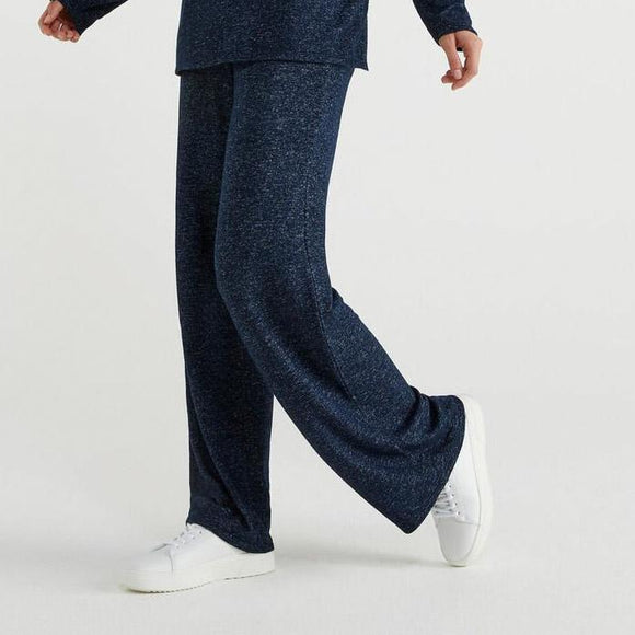Navy Jersey Trousers