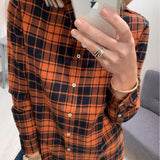 Rust Check Flannel Shirt