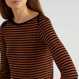 Orange Striped Top