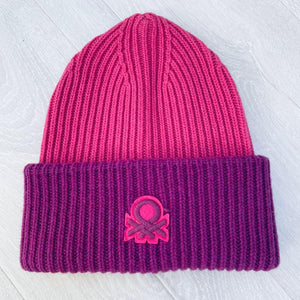 Pink/Cyclamen Logo Hat in Wool Blend
