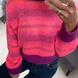 Reversible Pink & Purple Sweater in Mohair Blend