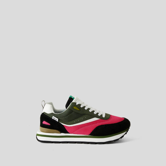 Khaki & Pink Sneakers Benetton Trainers