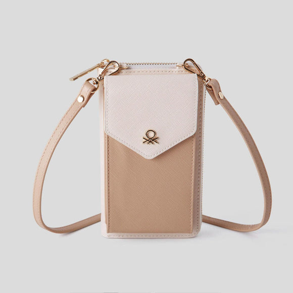Pink Wallet with Crossbody Strap