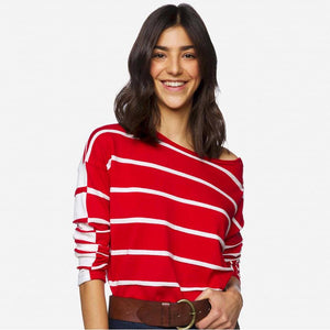 Red & White Stripe Sweater