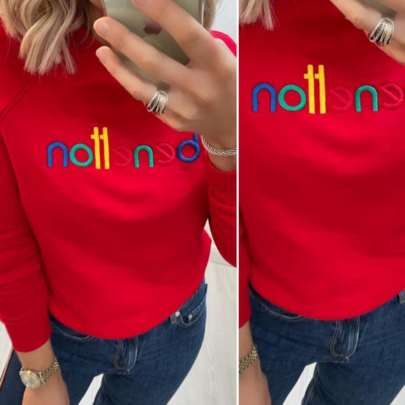Red Sweatshirt with Logo