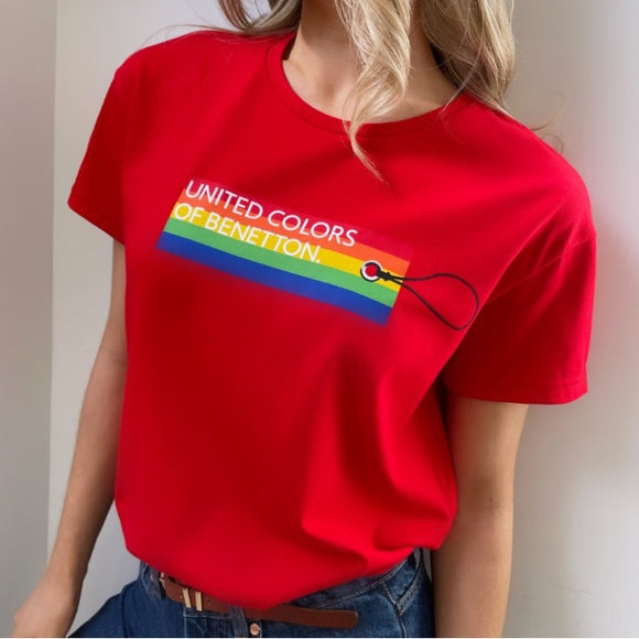 Red Rainbow Logo T-shirt