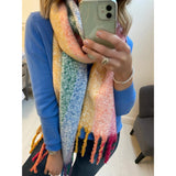 Bright Multi-colour Striped Scarf