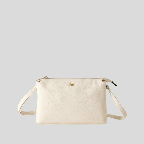 Creamy White Bag with Double Compartment
