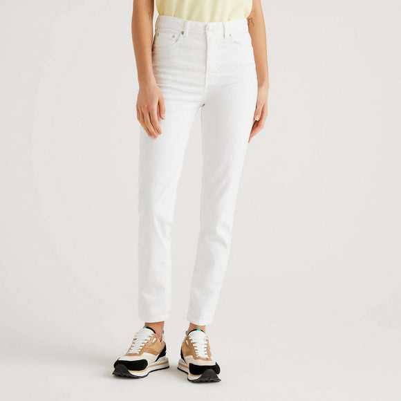 White Skinny Fit Trousers