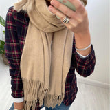 Camel Scarf with Fringe