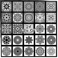 Load image into Gallery viewer, Reusable Mandala Stencil
