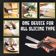 Load image into Gallery viewer, Clever Cutter - Kitchen Scissors with Cutting Board
