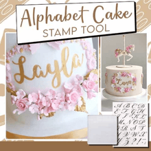 Load image into Gallery viewer, Alphabet Cake Stamping Tool