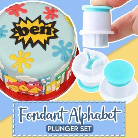 Fondant Alphabet Plunger Set Kitchen outdoorpinata Uppercase