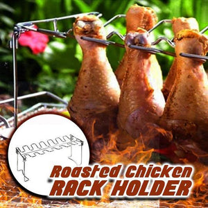 Stainless Steel Grilled Chicken Rack Holder