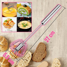 Load image into Gallery viewer, Stainless Steel Semi-Automatic Hand Push Whisk