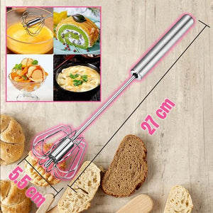 Stainless Steel Semi-Automatic Hand Push Whisk