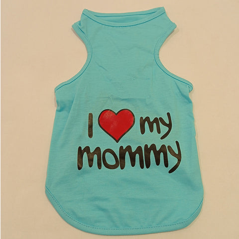 DH I Love Mommy Blue Tshirts