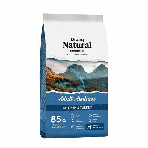 Dibaq Natural Moments Adult Medium Chicken and Turkey 3kg