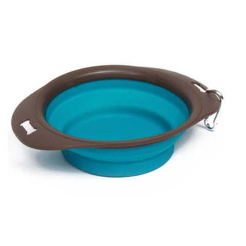 M-Pets On the Road Foldable Bowl Large- 1230ml (30x23x7.4cms)