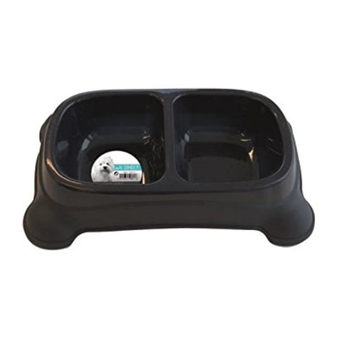 M-Pets Plastic Double Bowl Dog Small-2x400ml