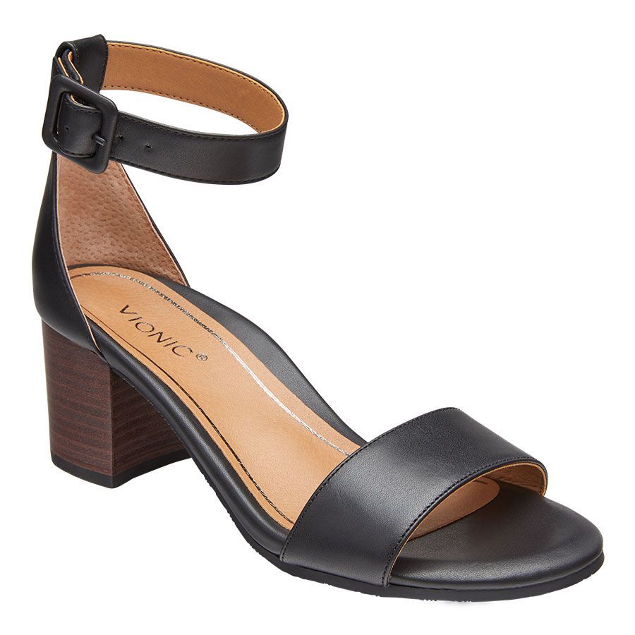 ROSIE LEATHER ANKL STRP-BLACK