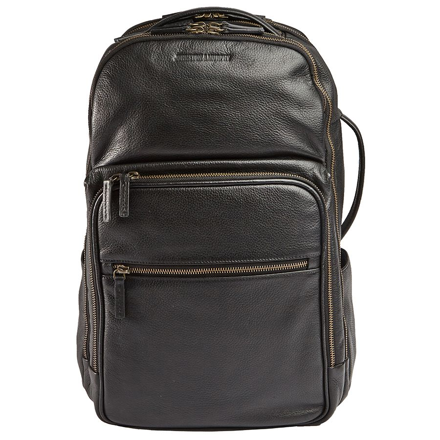 LEATHER BACKPACK-BLACK