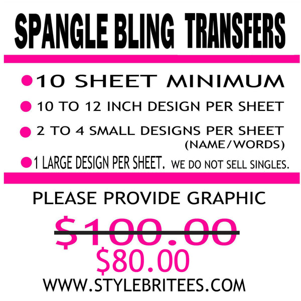 SPANGLE 2 WHOLESALE TRANSFER 100