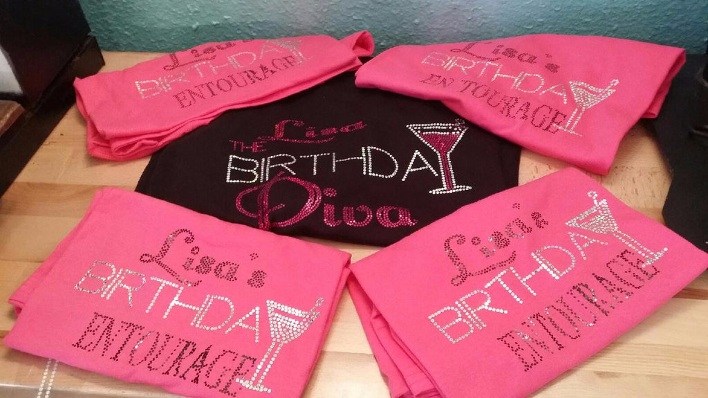 c2db3ed7a THE BIRTHDAY DIVA (CUSTOMIZE WITH NAME) BLING – StylebriTees