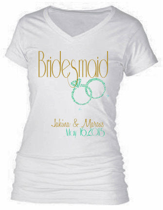 BRIDAL PARTY SHIRTS (BRIDESMAID) 1