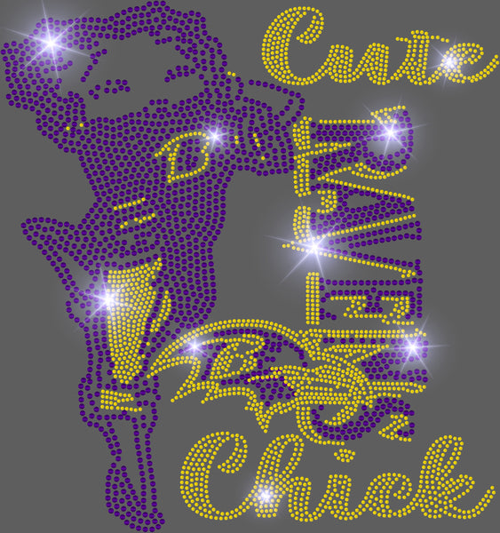 CUTE RAVENS CHICK BLING TRANSFER