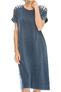 DENIM WASH DRESS