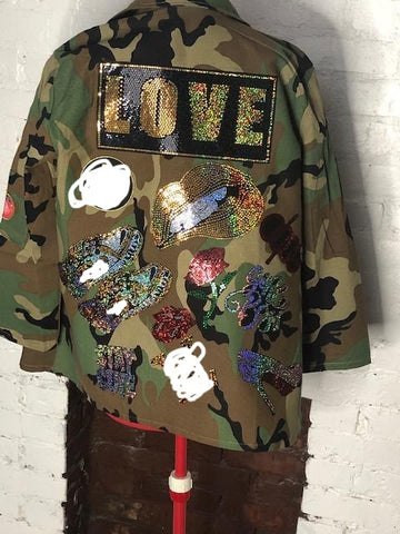 GABBY Camouflage  Patchwork Jacket