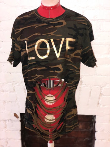 Love Camouflage  DISTRESSED SHIRT