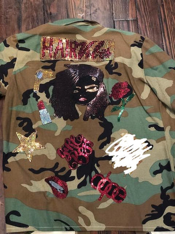 Dread Love CAMOUFLAGE BLING Patchwork JACKET