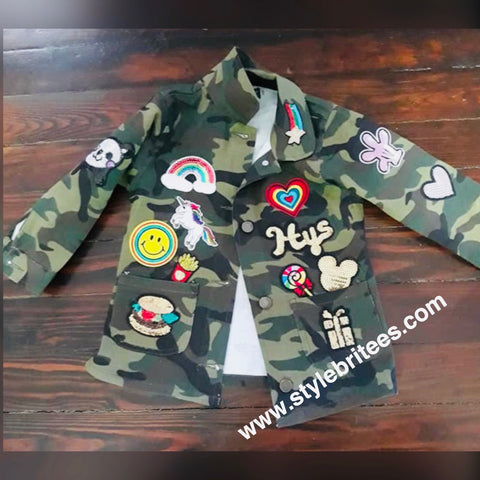 CAMOUFLAGE PATCHWORK JACKET KIDS