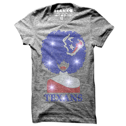 TEXANS Afro Lady Bling