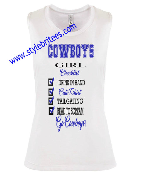 COWBOYS GIRL CHECKLIST