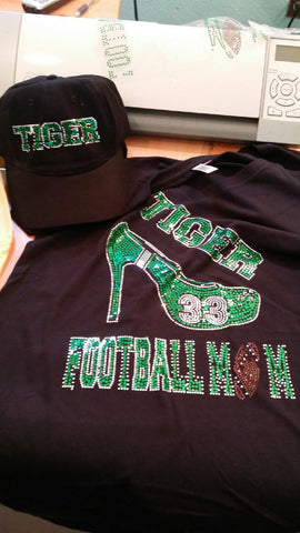 FOOTBALL MOM SHOE BLING