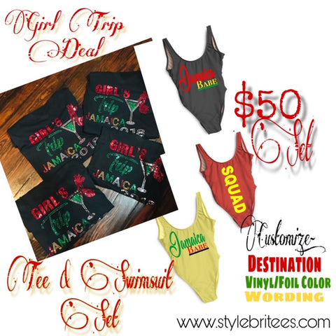 Tee & Swimsuit SET