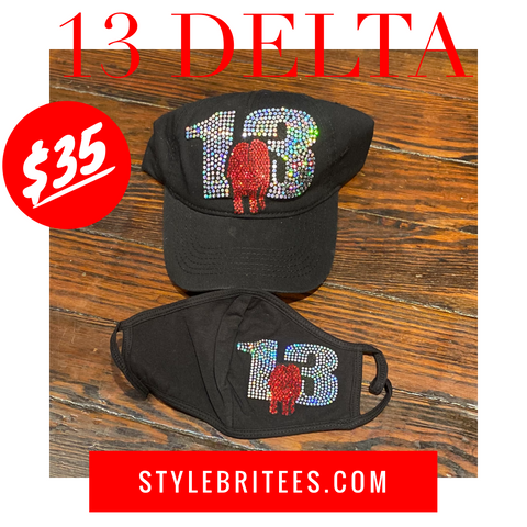 13 DELTA Mask & Cap Set