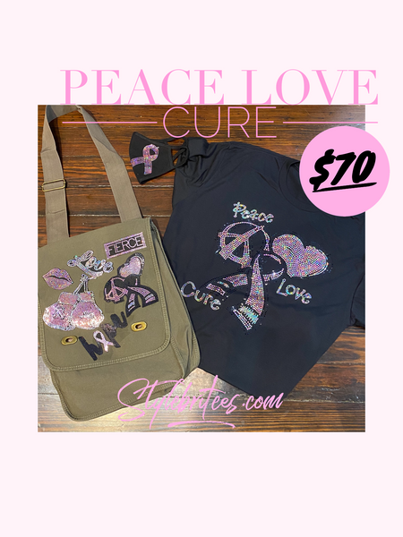 Breast Cancer Peace Love Cure BOX