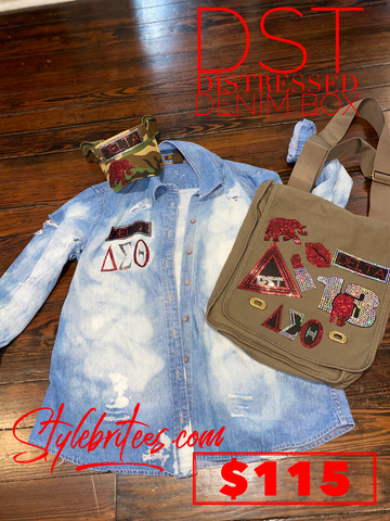 DST DISTRESSED DENIM BOX