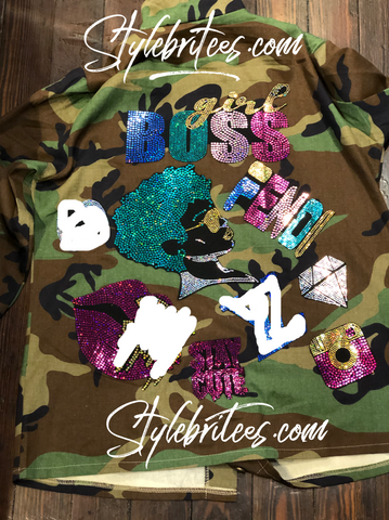 Girl BOSS Camouflage  Patchwork Jacket