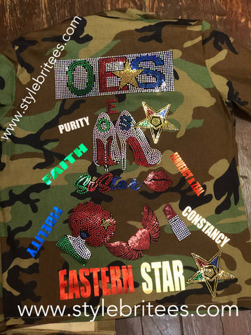 Order of Eastern Star CAMOUFLAGE JACKETS