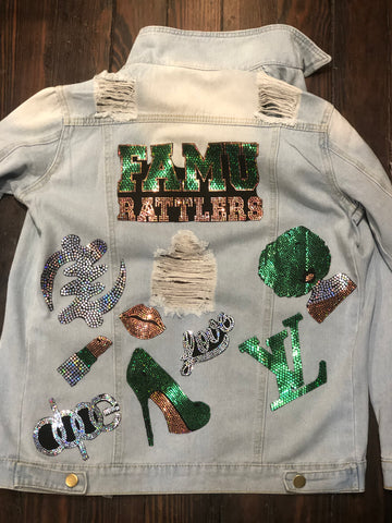 FAMU DENIM  Patchwork JACKET